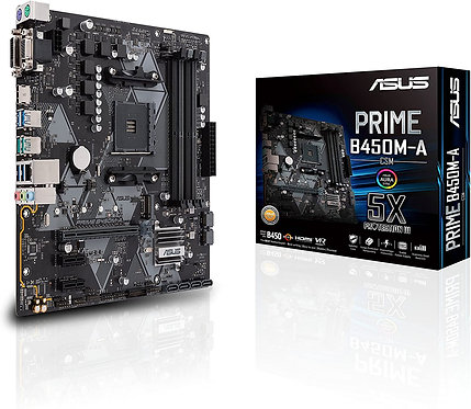 Asus Prime B450M-A/CSM AMD AM4 (3rd/2nd/1st Gen Ryzen Micro-ATX commercial mothe