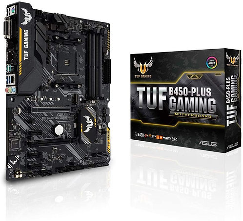 ASUS TUF B450-PLUS Gaming AMD AM4 (3rd/2nd/1st Gen Ryzen ATX Gaming Motherboard