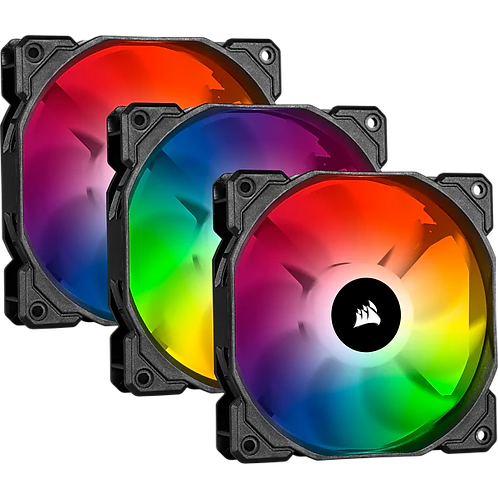 CORSAIR iCUE SP120 RGB PRO Performance 120mm Triple Fan Kit w Lighting Node CORE