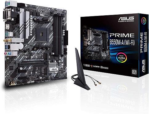 ASUS Prime B550M-A WiFi AMD AM4 Zen 3 Ryzen 5000 Ryzen Micro ATX Motherboard