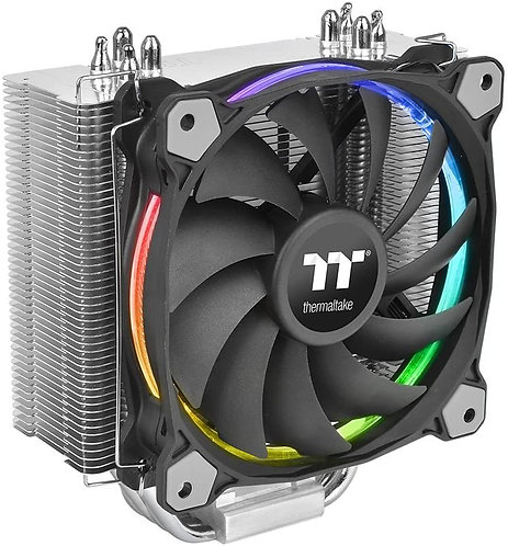 Thermaltake CL-P052-AL12SW-A Riing Silent 12 RGB Sync Edition CPU Cooler - Black