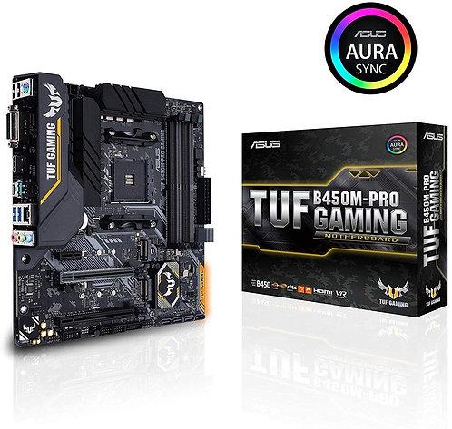 Asus TUF B450M-Pro Gaming AMD LED Lighting Micro-ATX Motherboard