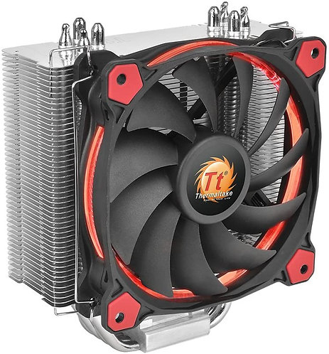 Thermaltake RIING Silent 150W Intel/AMD 120mm High Airflow LED Fan, Red
