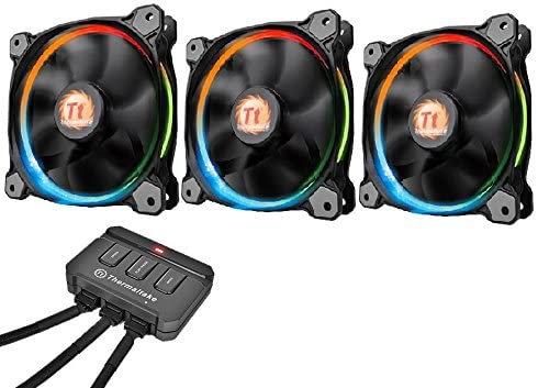 Thermaltake Riing12 Led RGB Fan 256 Colour 120 mm with Switch - Black