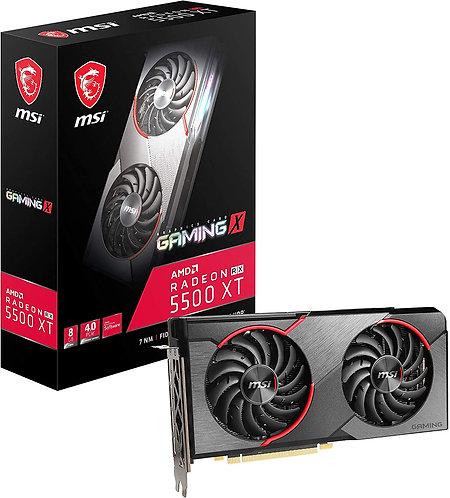MSI Gaming Radeon RX 5500 XT Boost Clock: 1845 MHz 128-bit 8GB