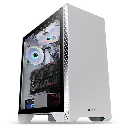 Thermaltake S300 Tempered Glass Snow Edition Mid-Tower Chassis