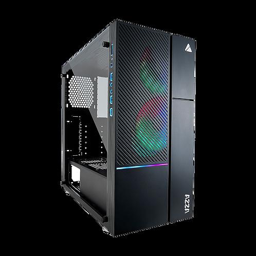AZZA CSAZ-330 IRIS MID-Tower PC CASE W/ 2X Digital RGB Fans,black