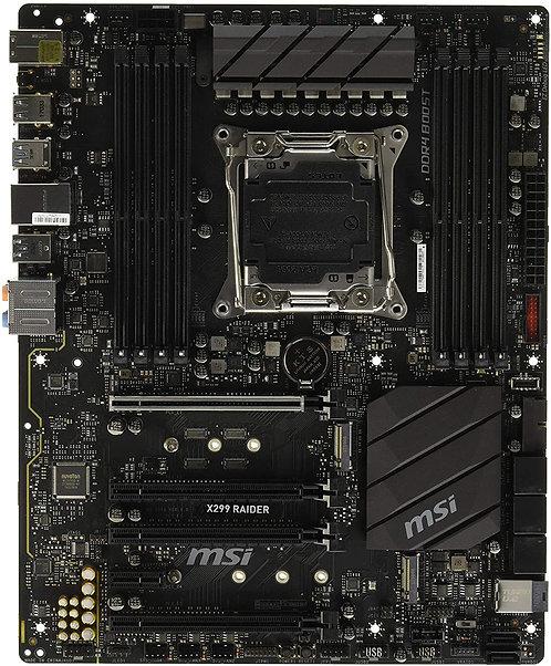 MSI Pro Series Intel X299 LGA 2066 DDR4 USB 3.1 SLI ATX Motherboard (X299 Raider