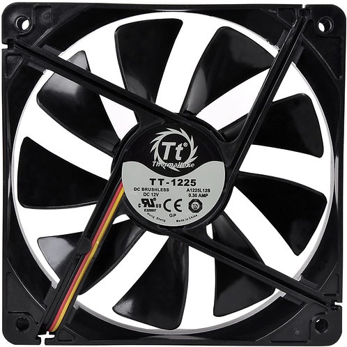 Thermaltake 120mm Pure 12 Series Black Quiet High Airflow Case Fan