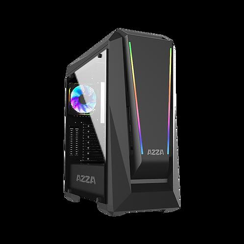 Azza Chroma 410A MID-Tower PC CASE, W/ 2X Prisma DRGB Fans, CSAZ-410A Chroma