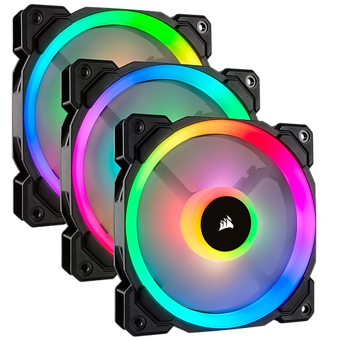 CORSAIR LL120 RGB 120mm Dual Light Loop RGB LED PWM Fan