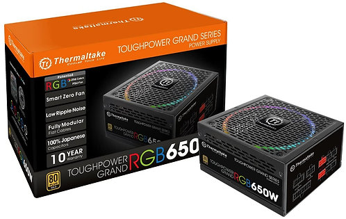 Thermaltake Toughpower Grand RGB 650W 80+ Gold Smart Zero 256-Color RGB