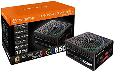 Thermaltake Toughpower Grand RGB 850W 80+ Gold Smart Zero 256-Color RGB