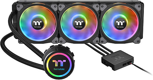 Thermaltake Triple Riing  LGA1200 AM4 Ready Intel/AMD Liquid Cooling CPU Cooler