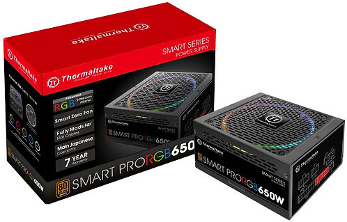 Thermaltake Smart Pro RGB 650W 80+ Bronze Certified PSU
