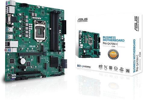 ASUS PRO Q470M-C/CSM LGA1200 (Intel 10th Gen) uATX Commercial Motherboard