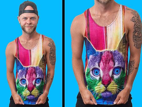 Rainbow Kitty Tank Top