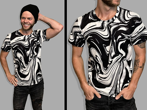 Black and White Marble T-Shirt