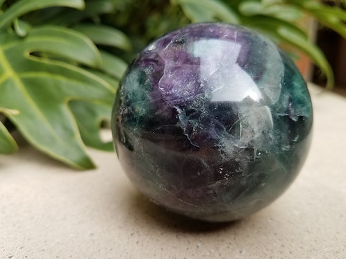 Large Flourite Sphere with Stand