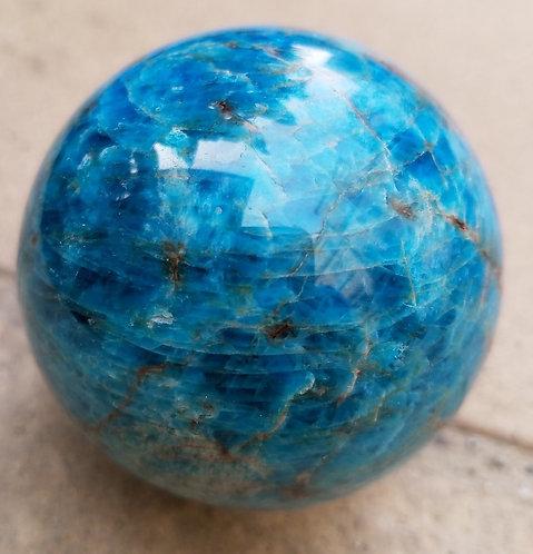 Spectacular Blue Apatite Sphere