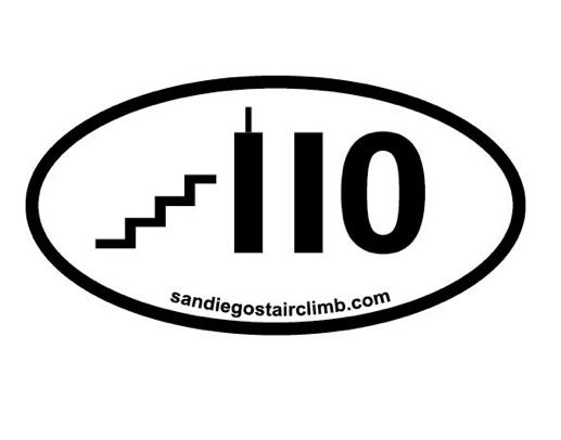 110 Flights Of Stairs Sticker