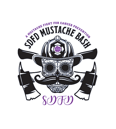 2019 SDFD Mustache Bash Sticker