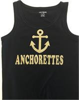 Gold Anchor Black Tank