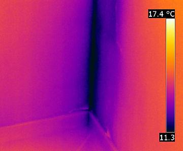 Ponte termico visto con la termocamera