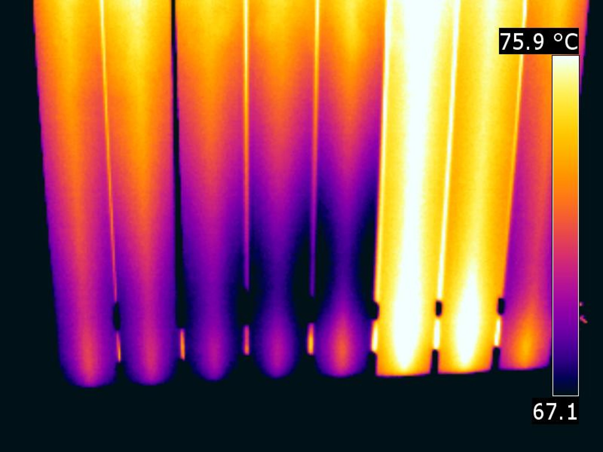 termografia radiatore