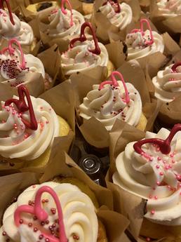 Valentine's Day Vanilla Brownie