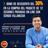 30% de descuento en la compra del paquete de 12 sesiones privadas (on-line) con Sergio Villamizar