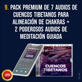 Pack premium de 7 audios de cuencos tibetanos para la alineación de chakras + 2 poderosas meditaciones guiadas