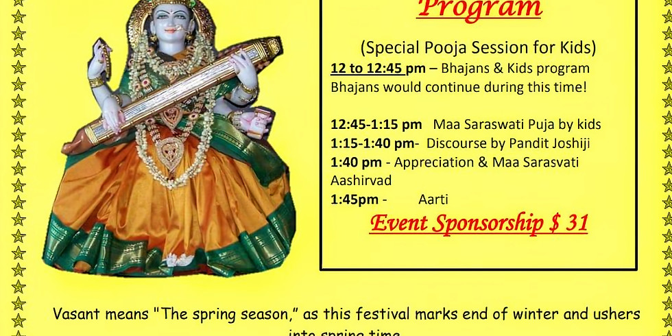 Vasant Panchami on February 9th