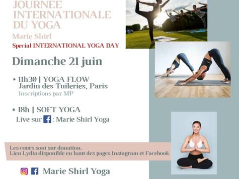 Journée Internationale du Yoga - Programme 21 juin 2020