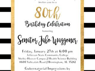 Celebrate Senator Waggoner's 80th Birthday!
