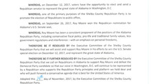 SCGOP Resolution in support of Roy Moore