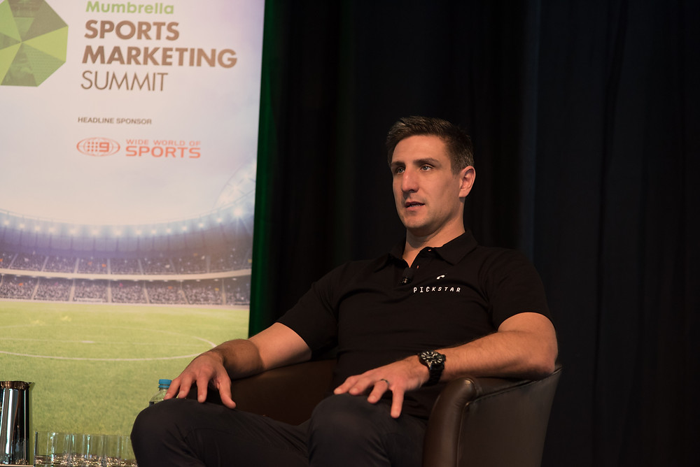 Matthew Pavlich at Mumbrella Sports Marketing Summit