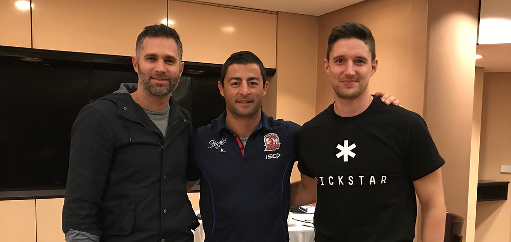 Anthony Minichiello with James Begley and Andrew Montesi