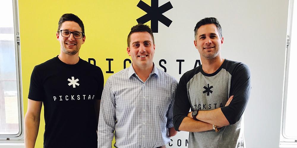 Matt Cowdrey with the PickStar team