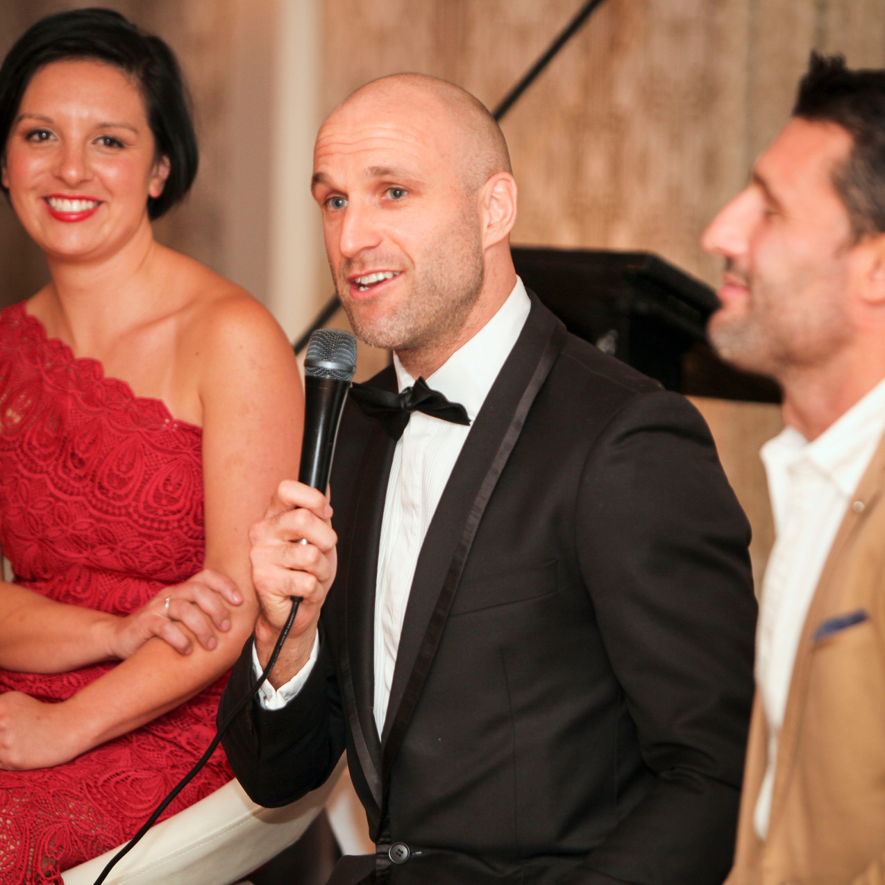 The AFL legend at a recent fundraising event, booked through PickStar.