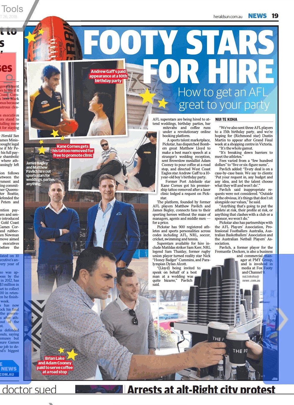 PickStar in the Herald Sun