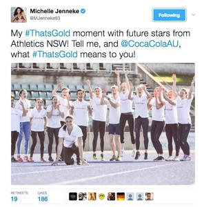Athlete Michelle Jenneke's #ThatsGold Coca-Cola campaign