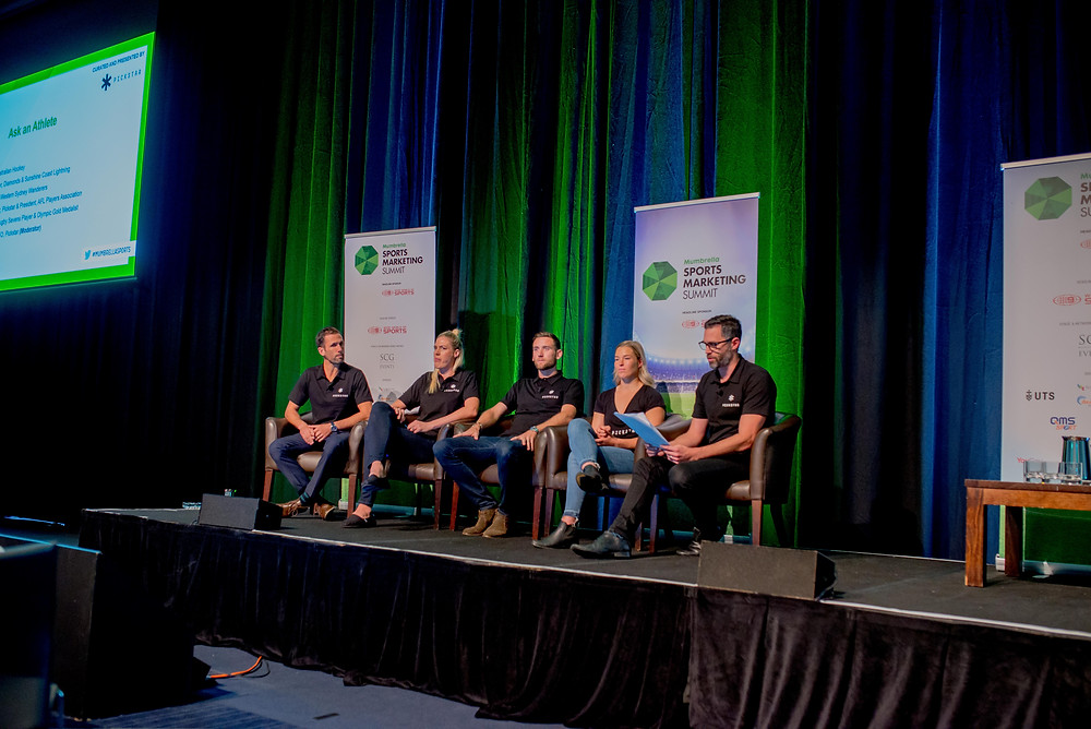 Athlete panellists Mumbrella Sports Marketing Summit
