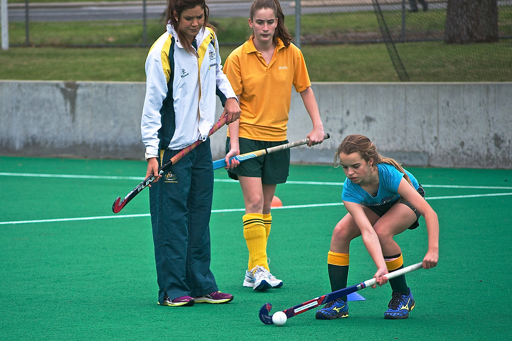 Anna Flanagan's hockey coaching clinic