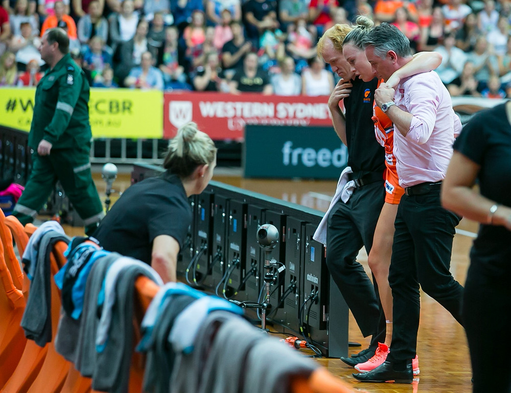 Kimberlee Green is helped from the court - Photo: Narelle Spangher