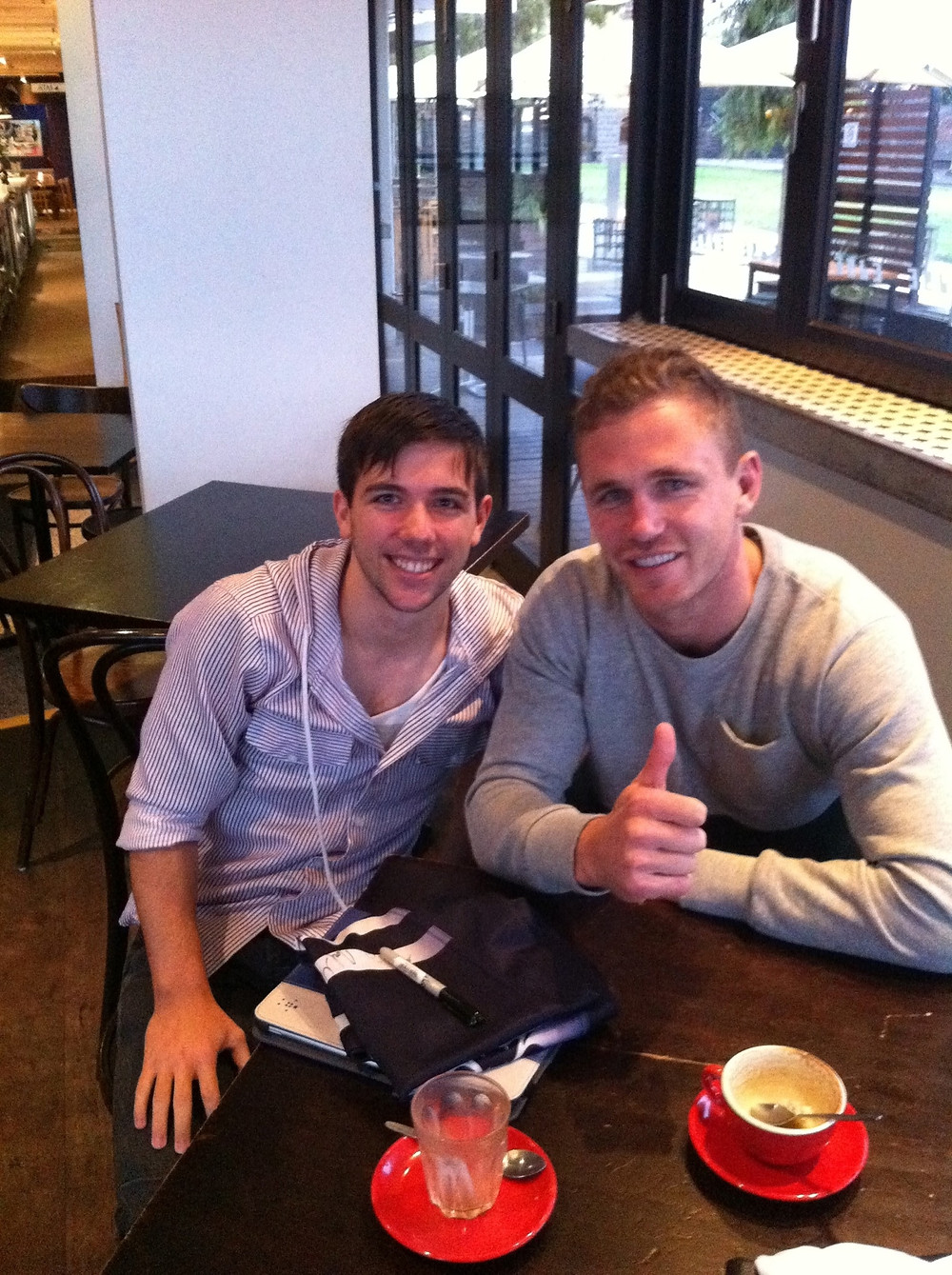 Joel Selwood coffee catch up