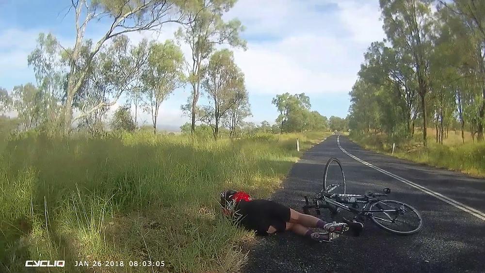 Cyclist v Kangaroo