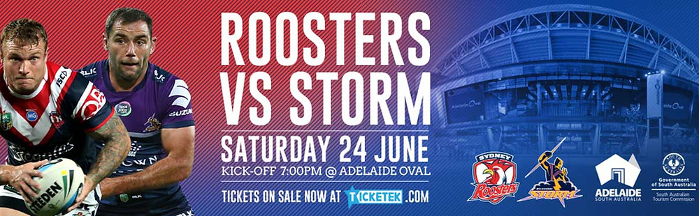 Roosters vs Storm Adelaide Oval