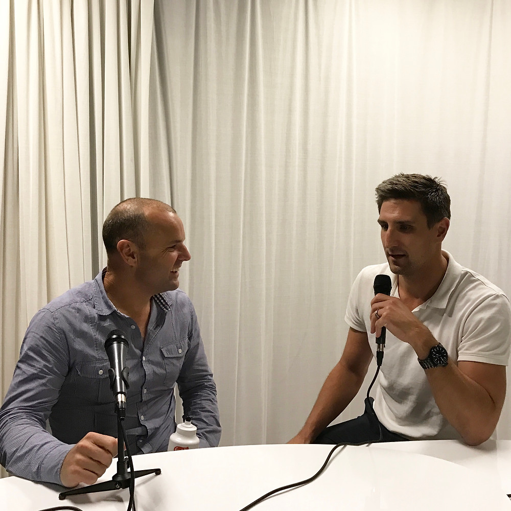 Paul Kilderry with AFL legend and PickStar co-founder Matthew Pavlich