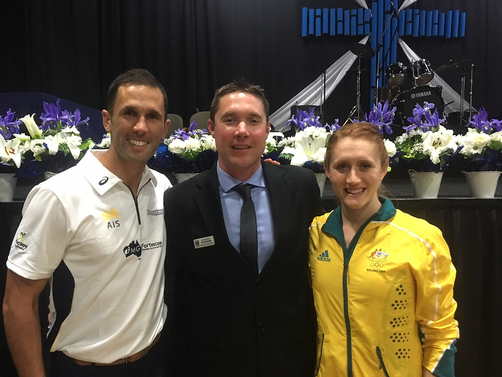 Mark Knowles and Olivia Vivian at Mazenod College